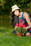 Garden woman Stock Photography