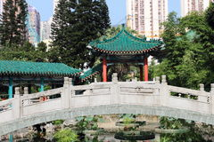 Garden of Wong Tai Sin Temple Royalty Free Stock Images
