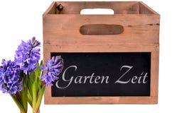 Garden wood box Stock Photo