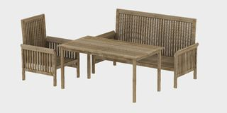 Garden wood furniture Royalty Free Stock Images