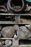 Garden wood storage detail Royalty Free Stock Photography