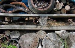 Garden wood storage Royalty Free Stock Image