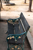 Garden wooden chair. Vintage color garden wooden chair Royalty Free Stock Photography