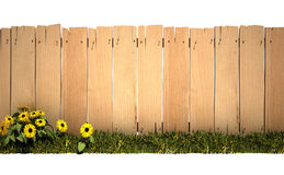 Garden and wooden fence Royalty Free Stock Photography