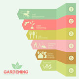 Garden work infographic elements. Working tools set. Royalty Free Stock Image