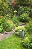 Garden work on summer morning Stock Photos