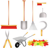 Garden work tools isolated Royalty Free Stock Images