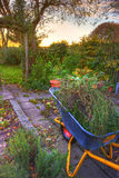 Garden work - wheelbarrow Stock Images