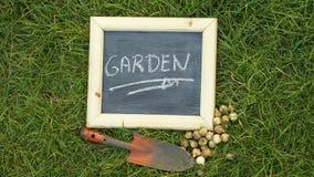 Garden written Stock Images