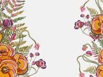 Garden yellow peony flower vector background yellow vector illustration