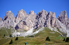 Gardena Pass dolomiti unesco Royalty Free Stock Photography