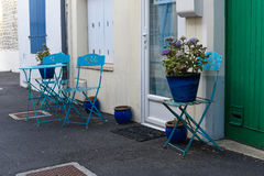 Gardenchairs and Table near the house Stock Image