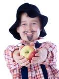 Gardener with apples Stock Photo