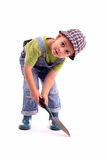 Gardener boy Stock Image