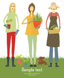 Gardener card Royalty Free Stock Photography
