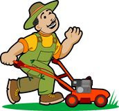 Gardener cartoon. Royalty Free Stock Photos