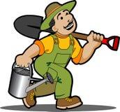 Gardener cartoon. Royalty Free Stock Photo