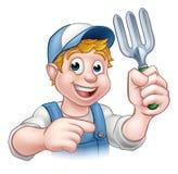 Gardener Cartoon Character Stock Photos