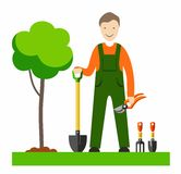The gardener, with colour illustrations. Royalty Free Stock Image