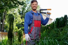 Gardener with cutting clippers Stock Photos