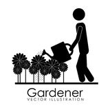 Gardener design Stock Images