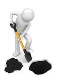 Gardener-digger - Workers Stock Image