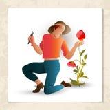 Gardener with garden shears Stock Photography