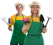 Gardener gardner team flower gardening garden tools occupation j Stock Image