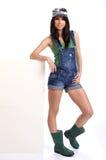 Gardener girl Stock Photo