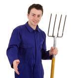 Gardener with a handshake Royalty Free Stock Images