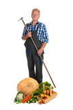 Gardener with harvest Stock Photo