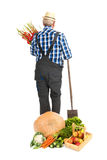 Gardener with harvest Royalty Free Stock Image