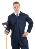 Gardener with a hoe Royalty Free Stock Photo