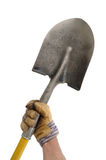 Gardener Holding a Shovel Stock Photos