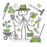 Gardener icons Stock Photos
