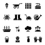 Gardener icons set, simple style Stock Photography
