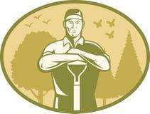 Free Gardener Landscaper Farmer Retro Royalty Free Stock Images - 25415759