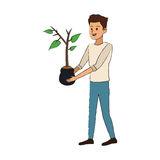 Gardener man icon Stock Photo