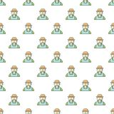 Gardener man pattern seamless. Gardener man pattern in cartoon style. Seamless pattern vector illustration Royalty Free Stock Images