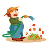 Gardener man Stock Photography
