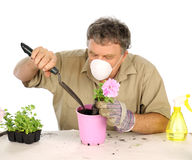 Gardener With Mask Stock Images