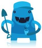 Gardener Monster with Shovel Stock Image