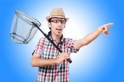 Gardener with net  Stock Photography
