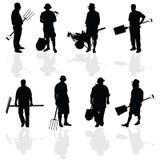 Gardener people black vector illustartion Stock Image