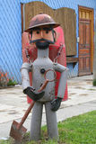 Gardener in Puerto Natales Stock Photography