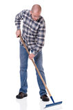 Gardener with a rake Stock Image
