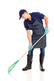 Gardener raking Royalty Free Stock Photography