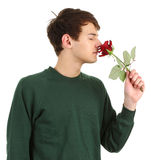 Gardener with a rose Stock Image