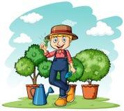Gardener showing his thumb Stock Photography