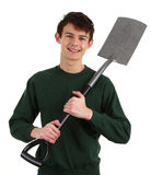 Gardener with a spade Royalty Free Stock Photos